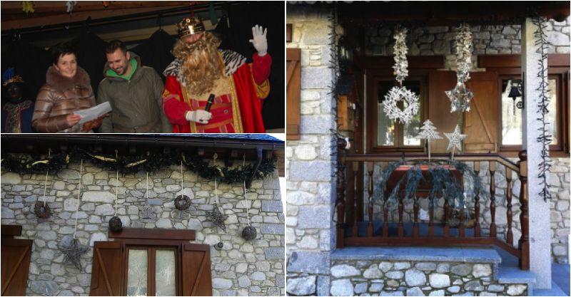 Decoración navideña del pueblo de Arties en el Valle de Aran