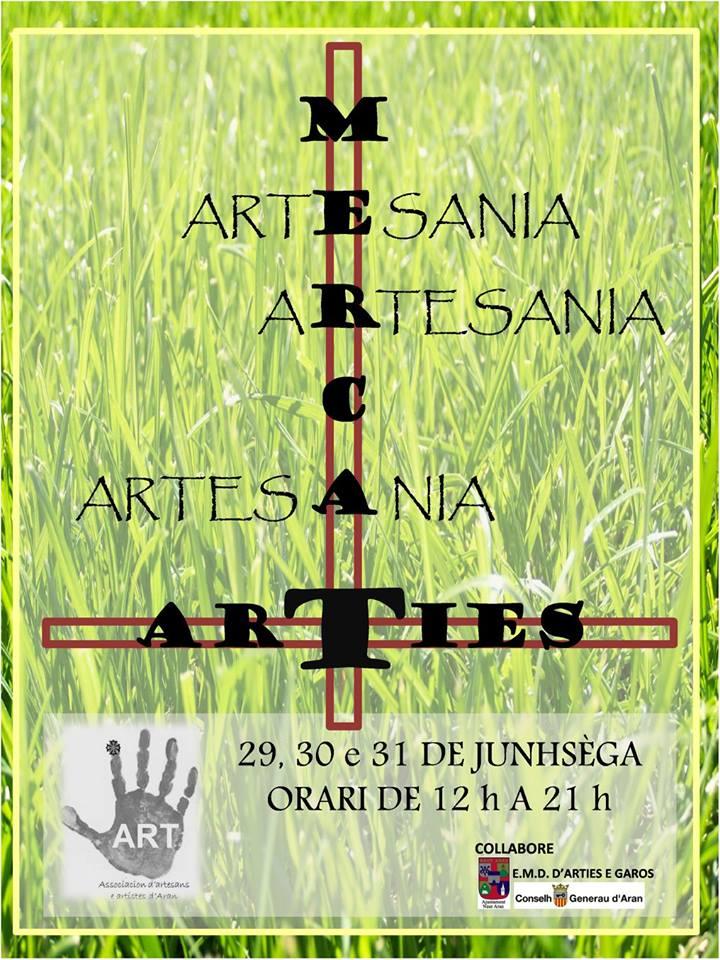 Verano en Arties, mercado de artesanías