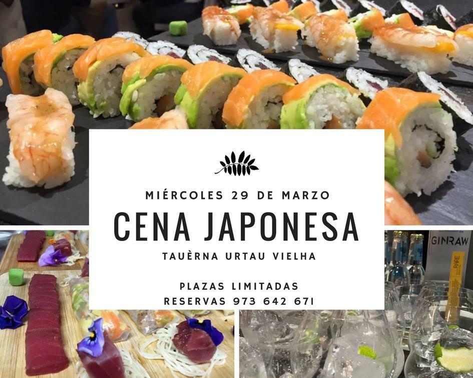 Cena japonesa en arties