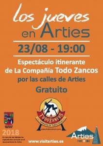 """Espectáculo itinerante de la compañía """"Todo Zancos"""" @ Por las calles de Arties"""