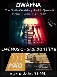 Dwayna en concierto @ Sidrería Casa Pau | Madrid | Comunidad de Madrid | España