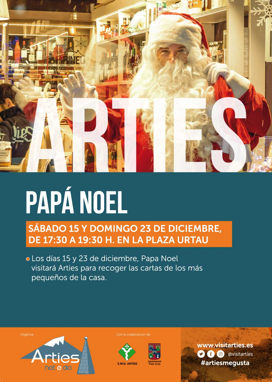 Poster papa noel en arties 2018