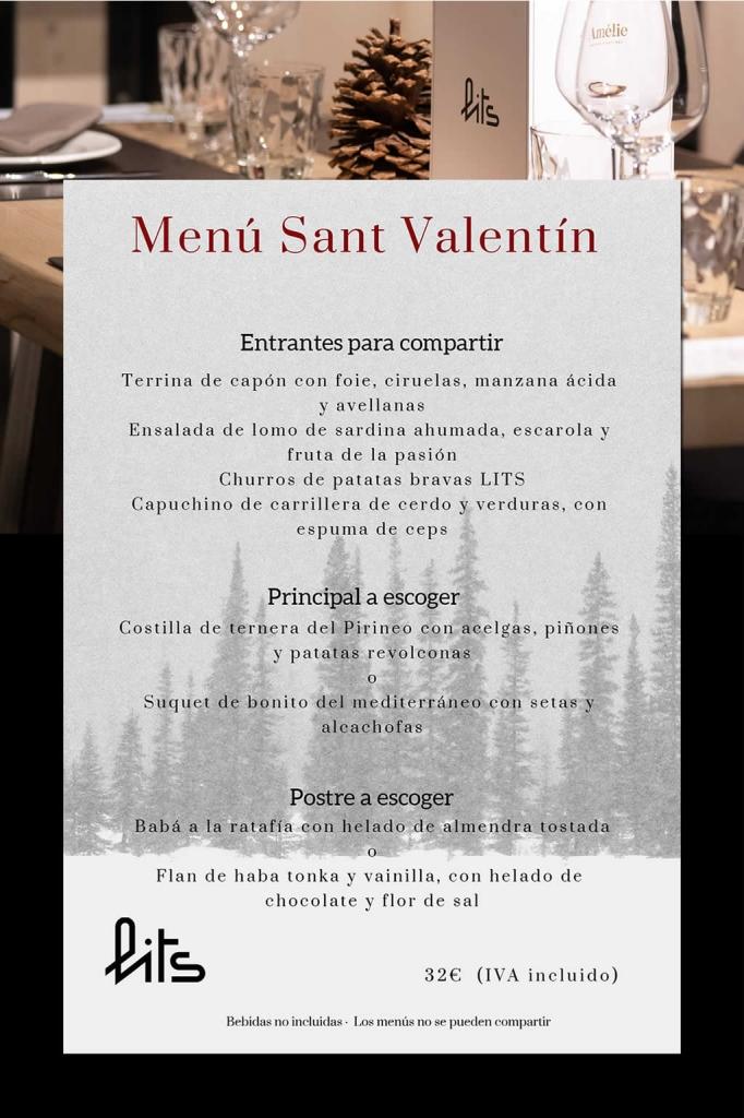 Lits Menu San Valentin 2019
