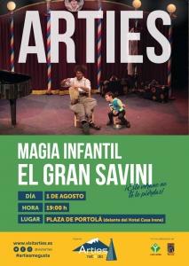 """Espectáculo de magia infantil Con """"El Gran Savini"""" @ Plaza de Portolá (Delante del Hotel Casa Irene)"""