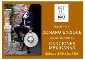 Canciones Mexicanas con Romano Enrique @ Sidrería Casa Pau