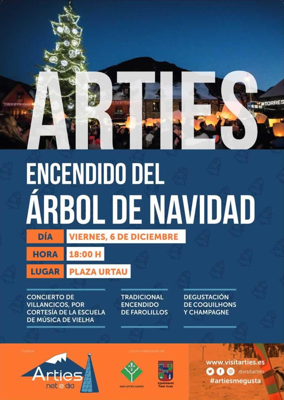 Encendido árbol de navidad en Arties, Val d'Aran