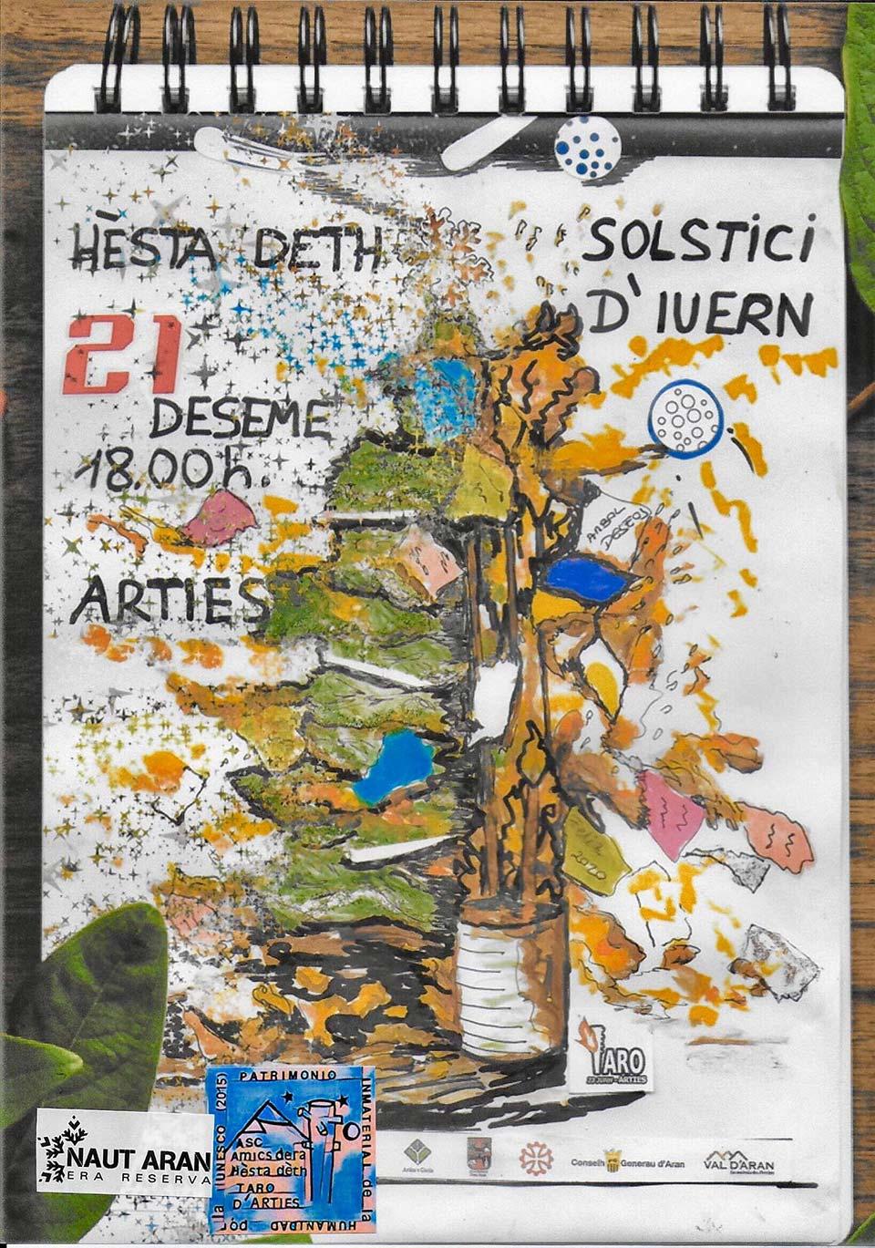 Fiesta del Solsticio de invierno en Arties, Val d'Aran